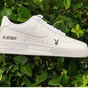 Nike Air Force 1 playboy customs reflective